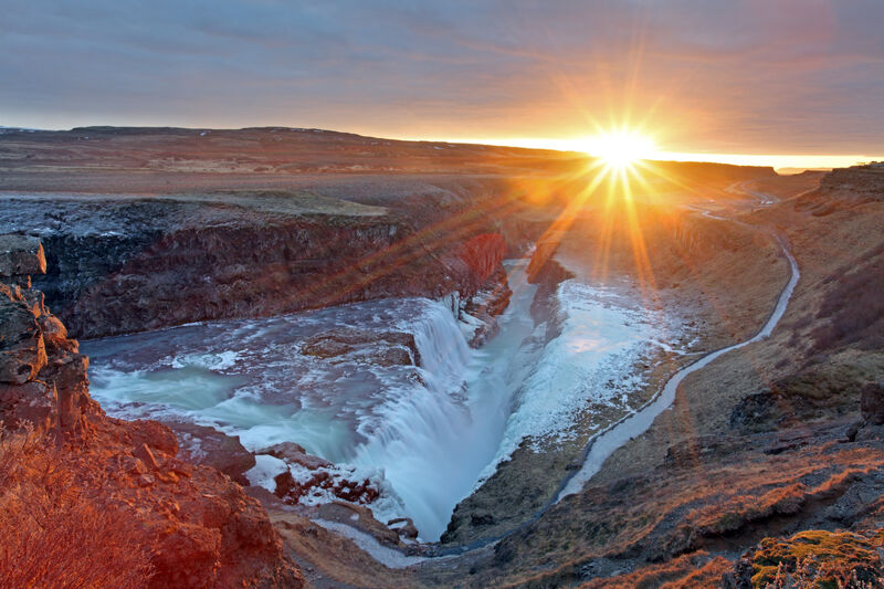 Východ slnka na Islande