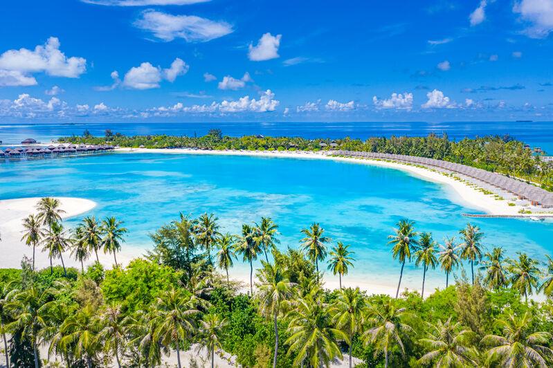 Tyrkysové more na maldivách