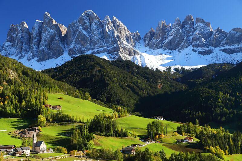 Pohľad na Dolomiti