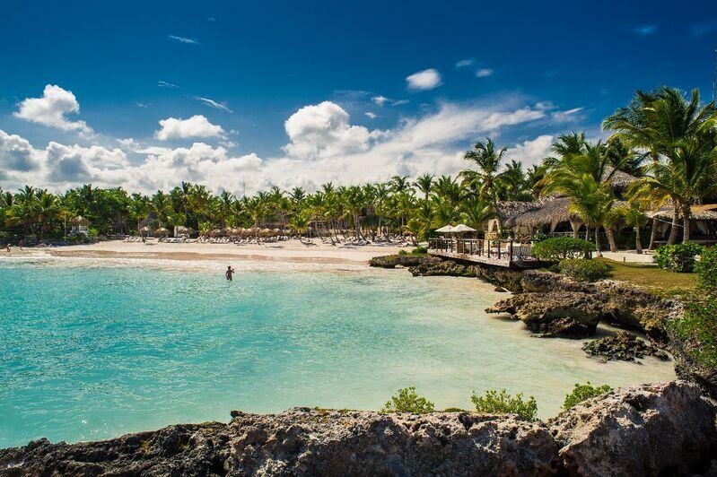 Pláž dominikánskej republiky