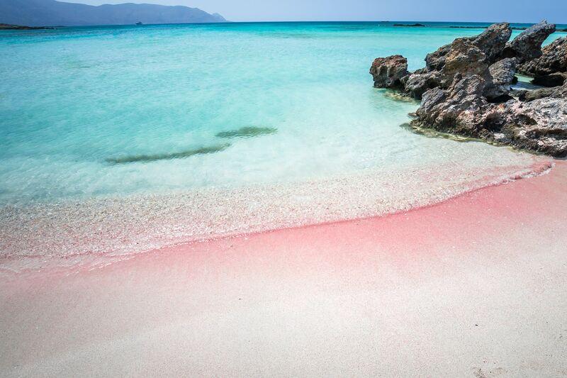 Elafonisi pláž na Kréte