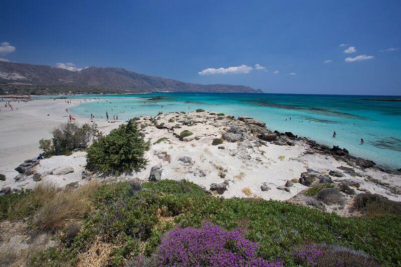 Pláž elafonisi na kréte