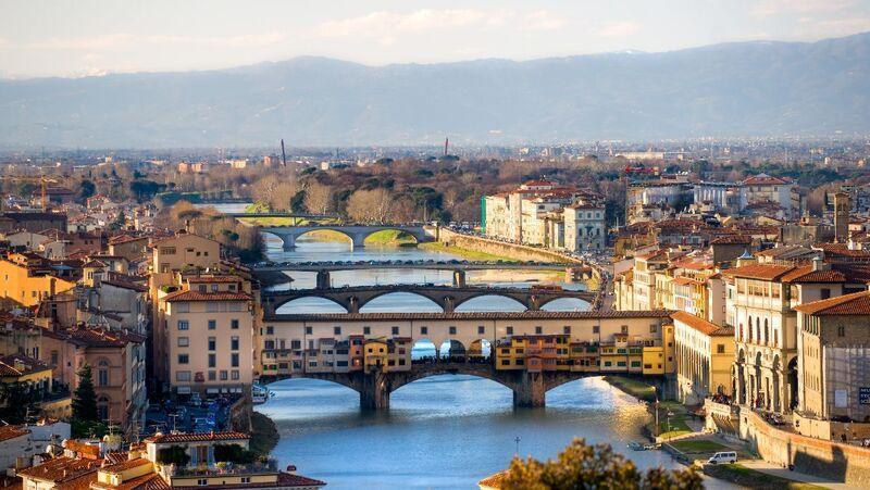 Panorama mesta florencia v taliansku