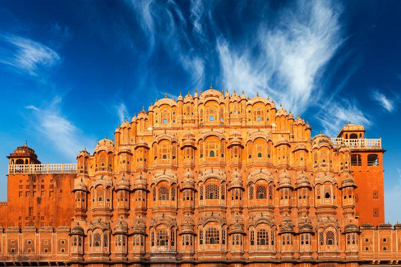 Palác hawa mahal v indii