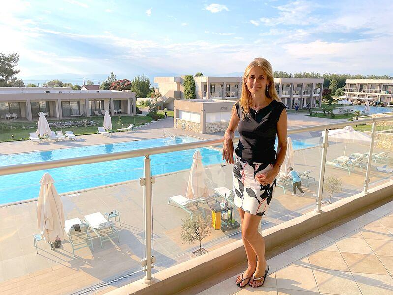 Norika Fedorová v hotely Alea na ostrove Thassos