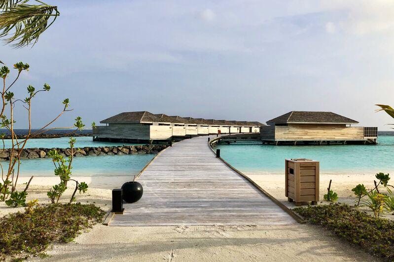 Mólo a domčeky na maldivách