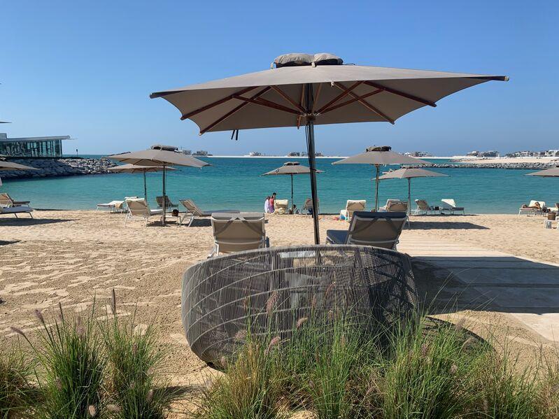 Pláž hotela bvlgari v dubaji