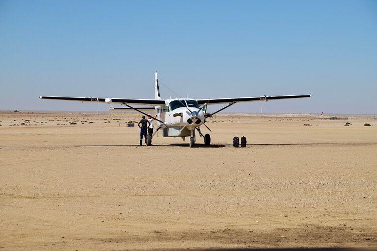 Súkromné lietadlo na presuny v namíbii