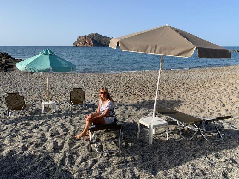Norika na pláži pri hoteli
