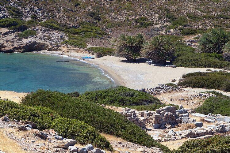 Pláž pri meste Ithanos na kréte
