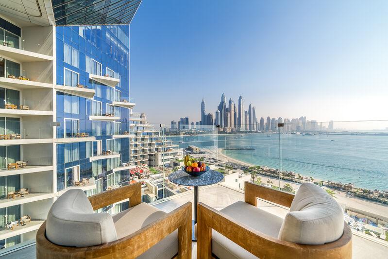 Výhľad hotela v dubaji