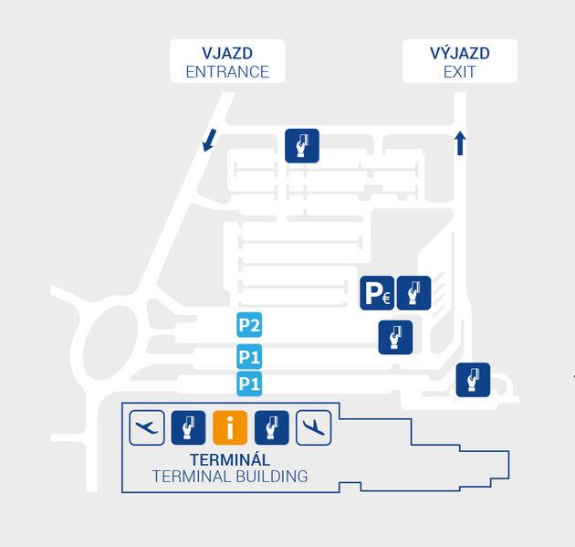 mapa parkoviska na letisku bratislava