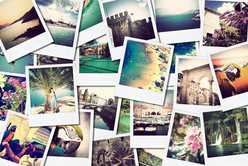 Mozaika polaroidových fotiek