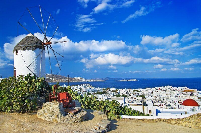 Ostrov mykonos v grécku