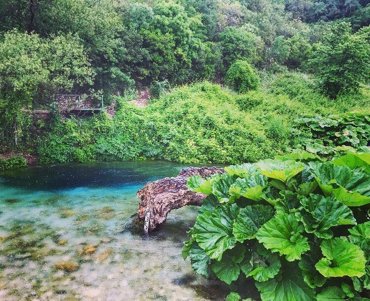 Národný park modré oko v albánsku