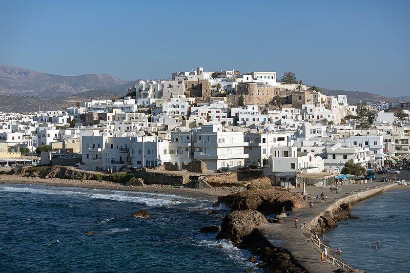 Ostrov naxos v grécku