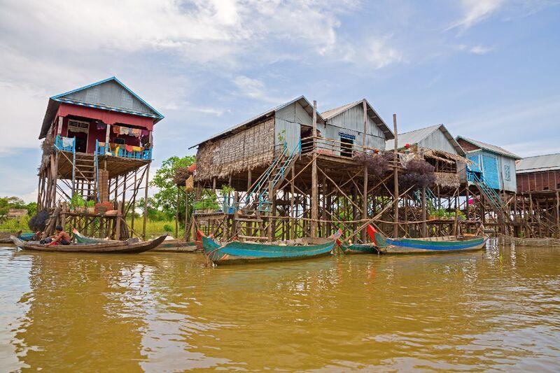 Mesto na rieke v kambodži