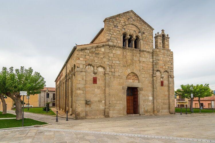 San simplicio kostol v meste olbia na sardínii v taliansku