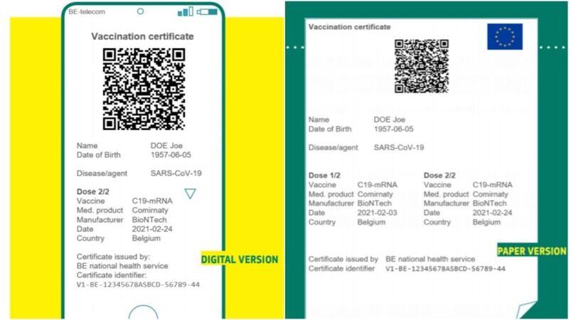 Online alebo papier zelený pas