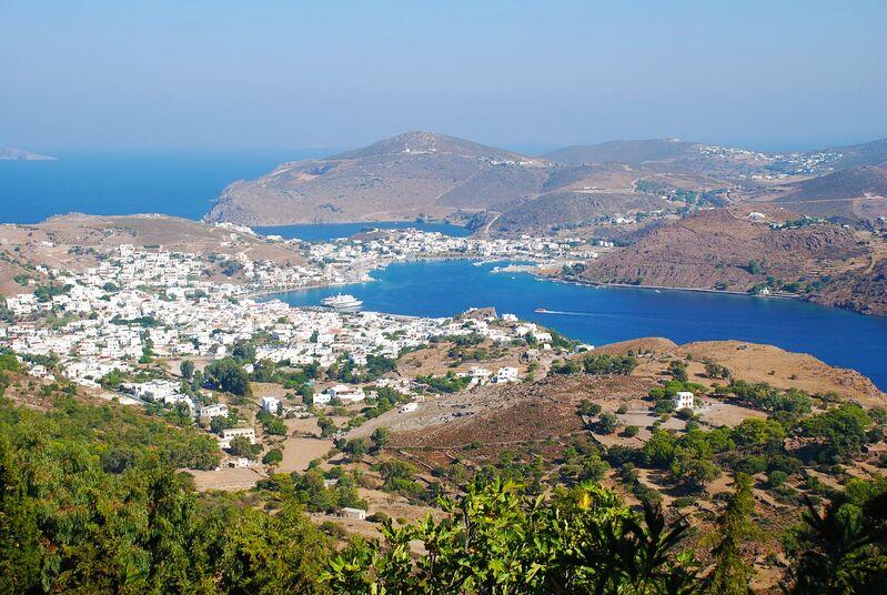 Ostrov patmos v grécku