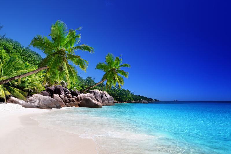 Pláž na Seycheloch