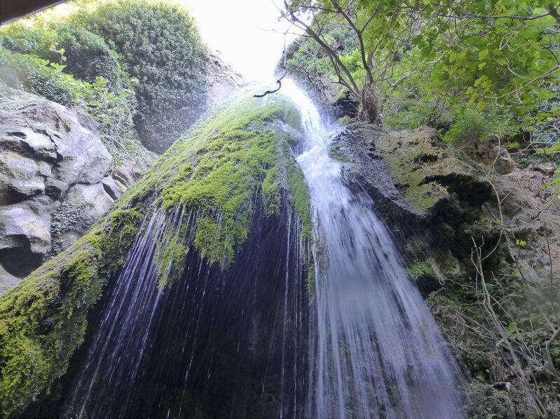 Vodopády richtis na ostrove kréta