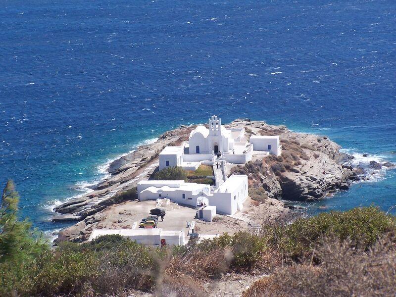 Ostrov sifinos v grécku