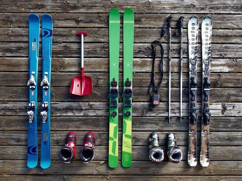 Moderné lyže