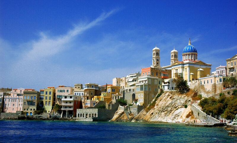 Ostrov syros v grécku