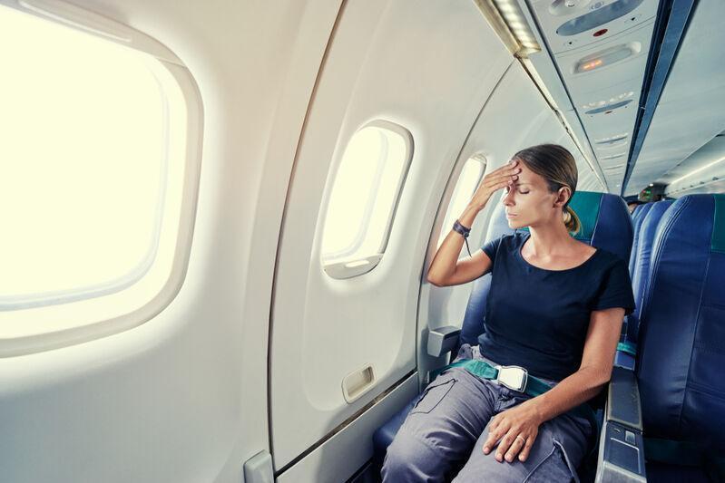 Žena, ktorá ma strach z lietadla