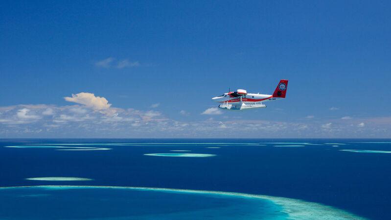 Hydroplán na maldivách