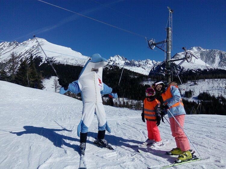 S delfim na lyžiach na slovensku