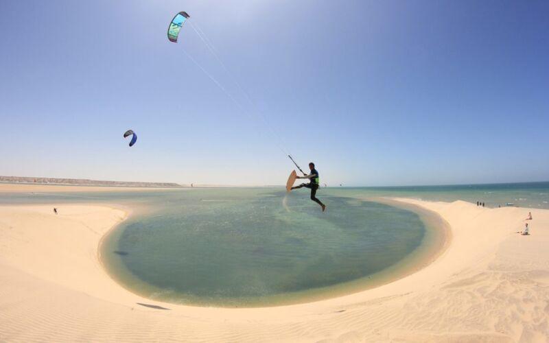 Pláž dakhla v Maroku