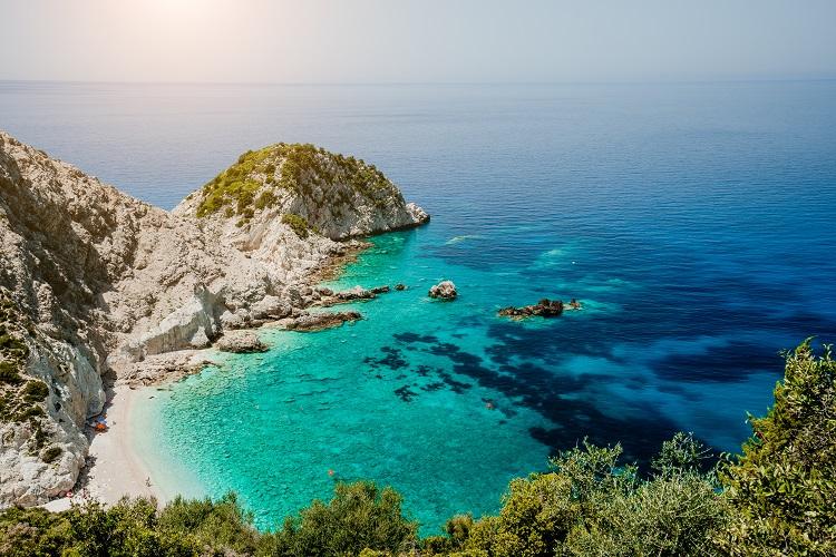 Pláž agia eleni v Kefalónii