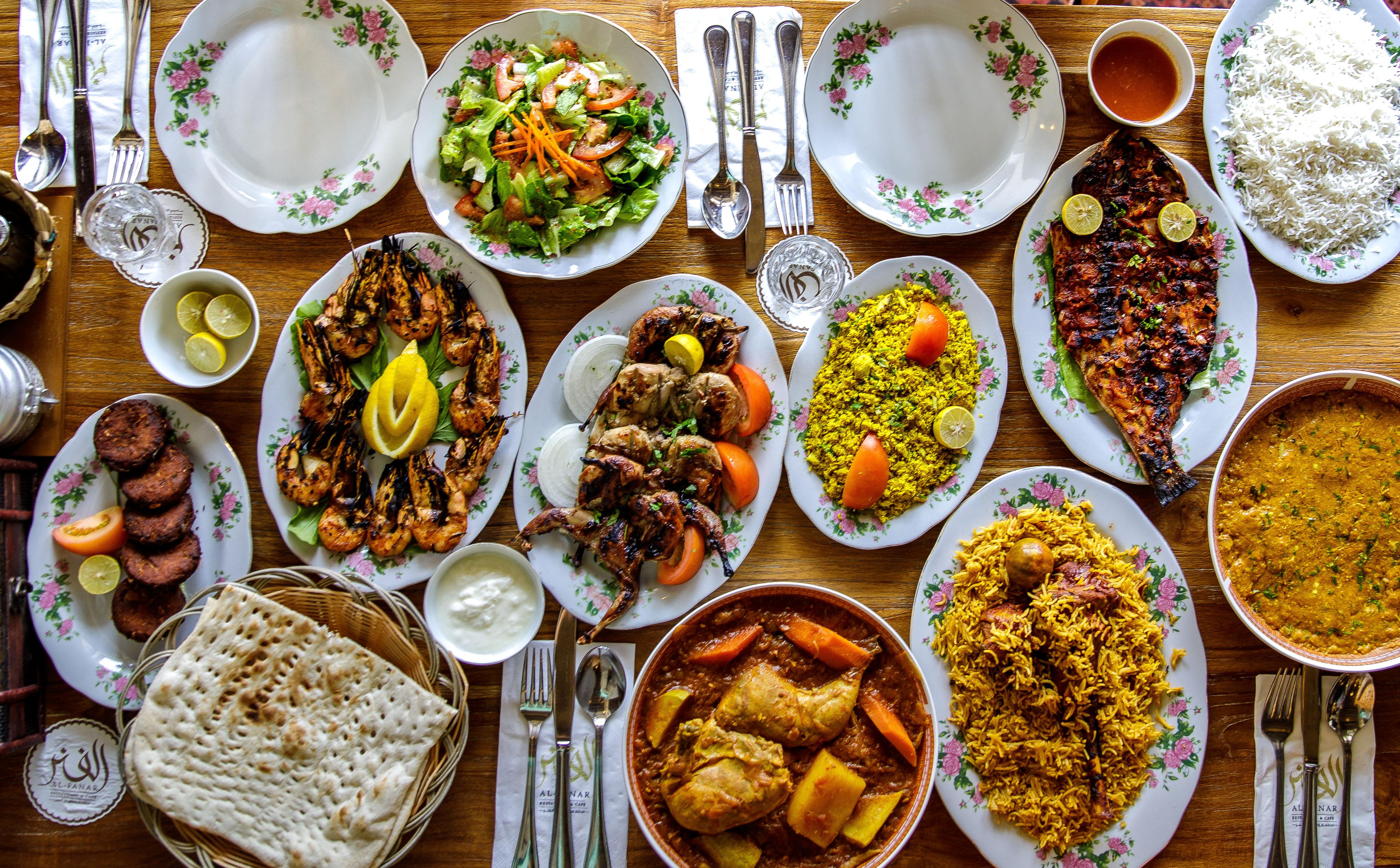 Typické jedlá v emirátoch