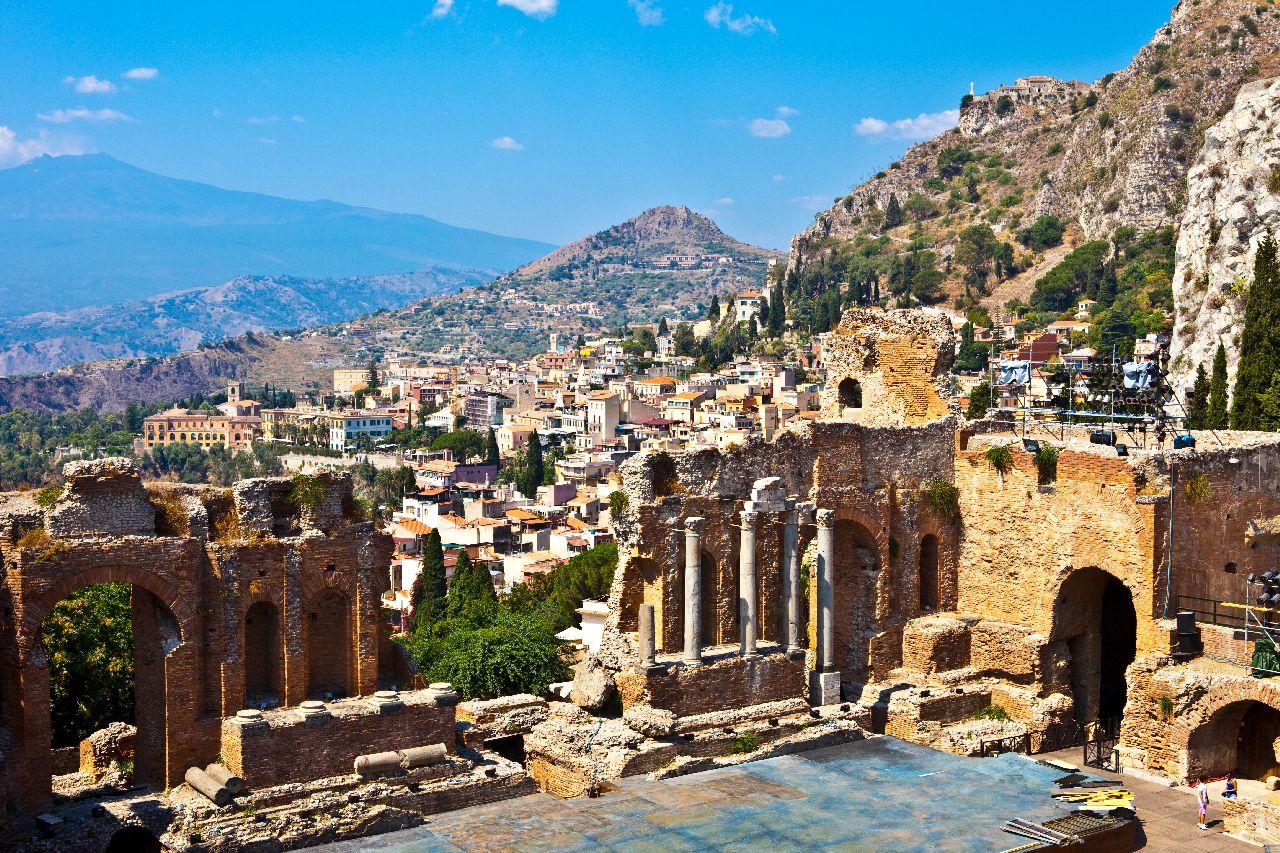 Antické divadlo v taormine