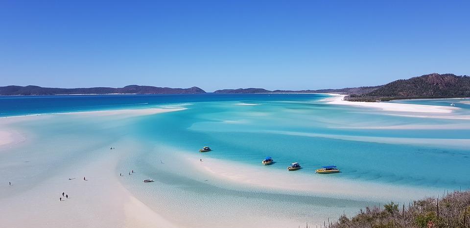 Pláž whiteheaven v austrálii