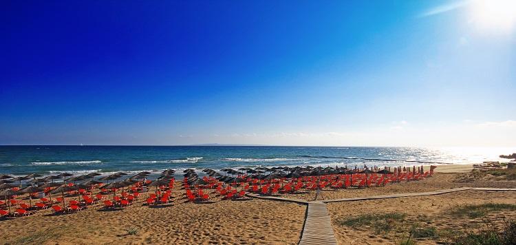 Pláž Banana beach na Zakyntose
