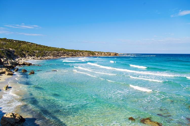 Pláž Blue lagoon, Akamas na Cypre