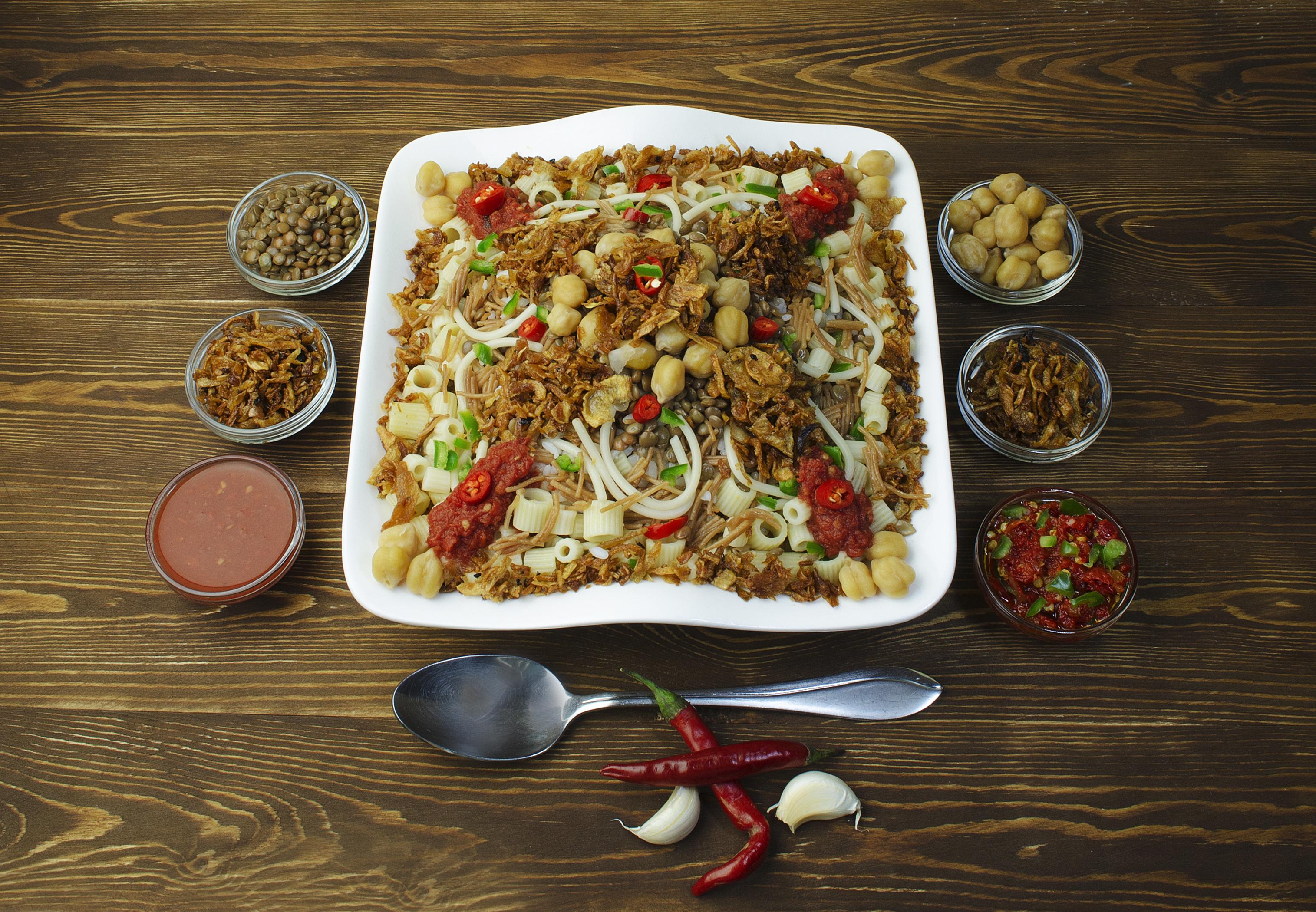 Typické jedlo v egypte koshary