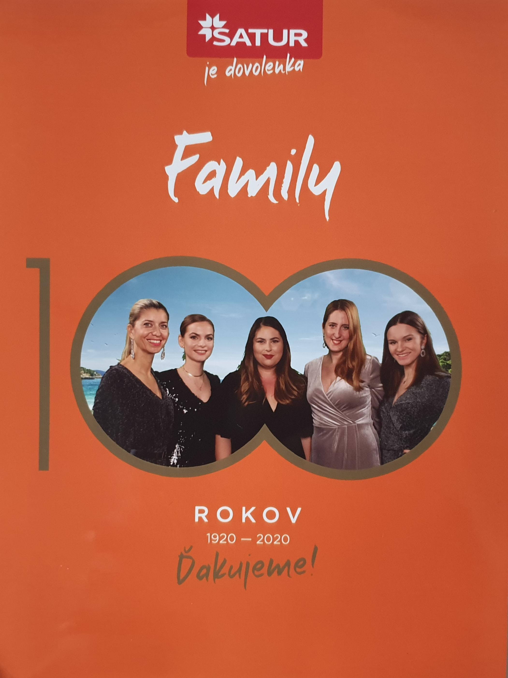Titulka katalógu family s víťazkou kategórie