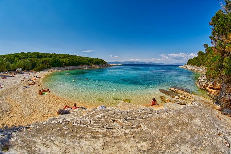 Pláž Foki na Kefalónii