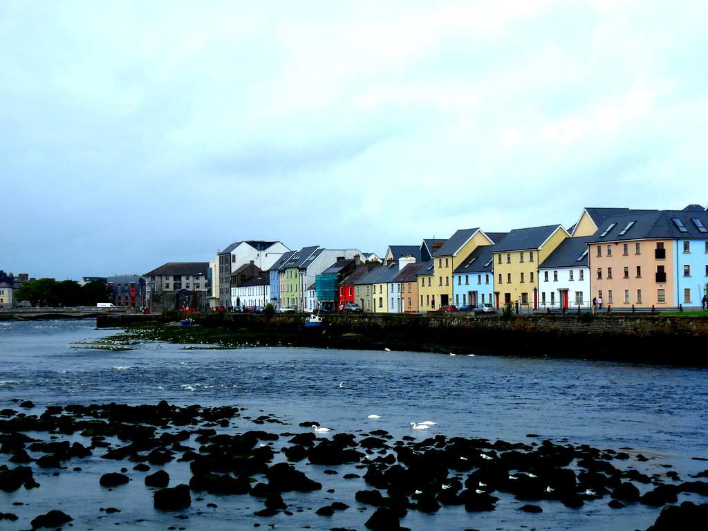 Ulička mesta gallway v írsku