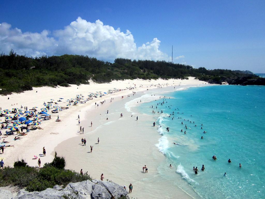 Horseshoe bay beach na bermudách