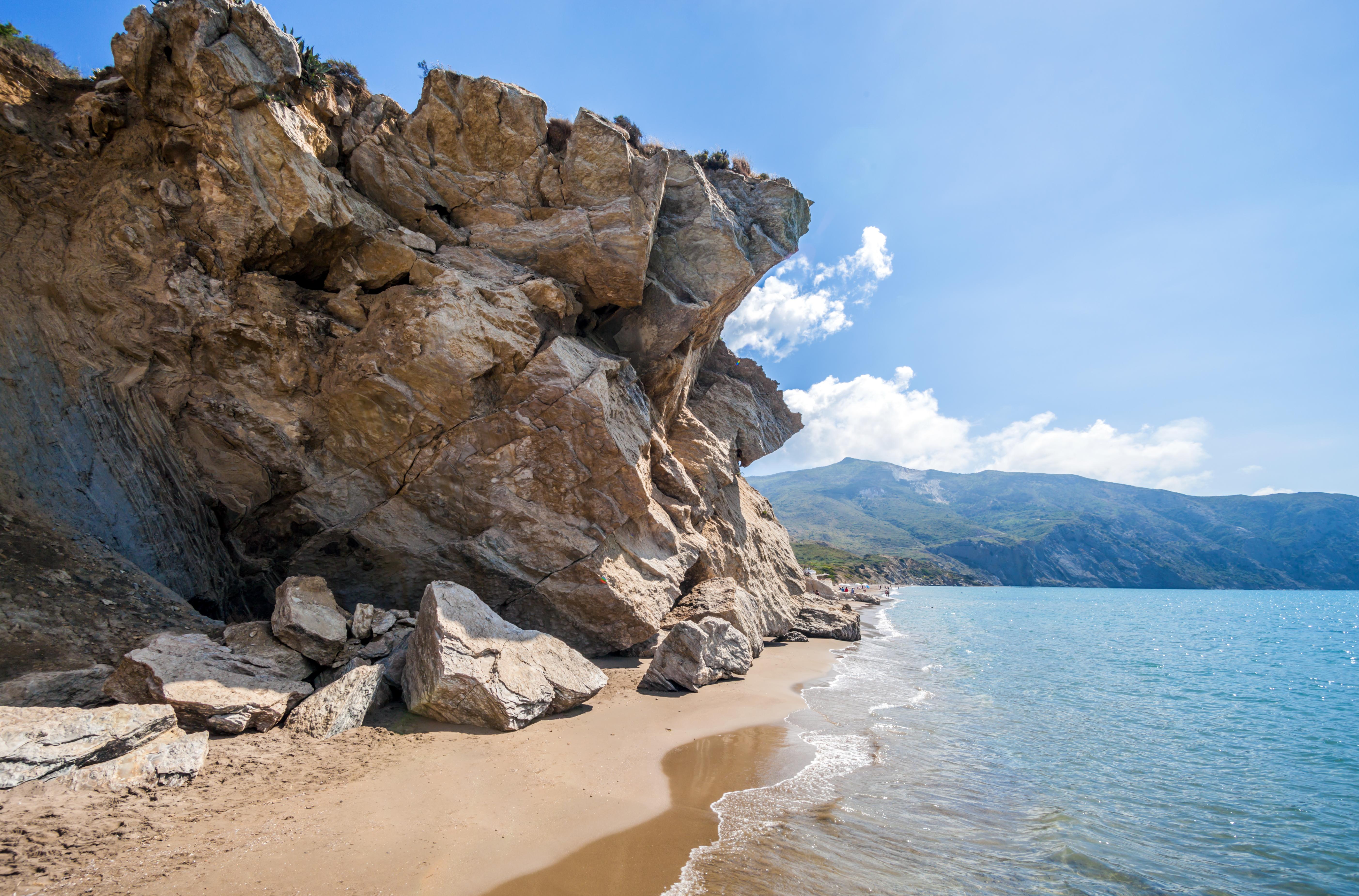 Pláž Kalamaki na Zakyntose