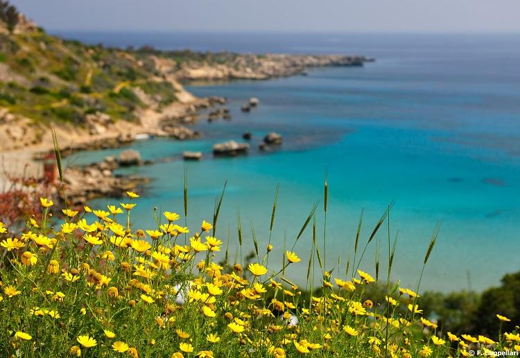 Pláž Konnos Bay na Cypre
