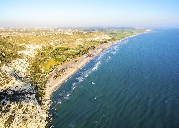 Pláž Kourion, Limassol na Cypre