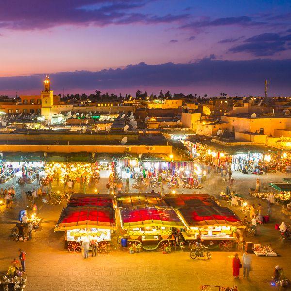 Trh jema el fna v maroku