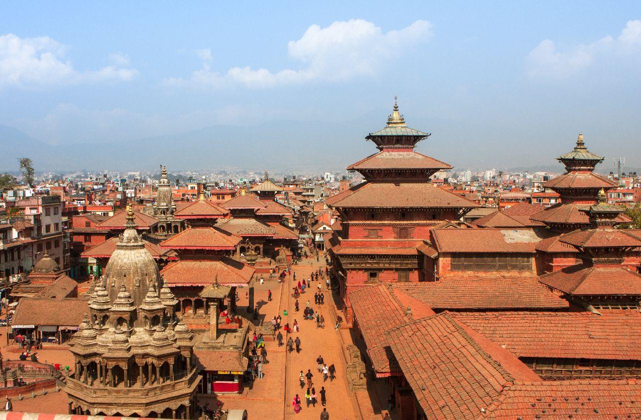 Hlavné mesto káthamandu v nepále