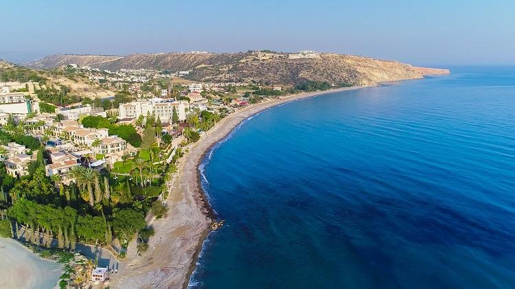 Pláž Pissouri Bay na Cypre